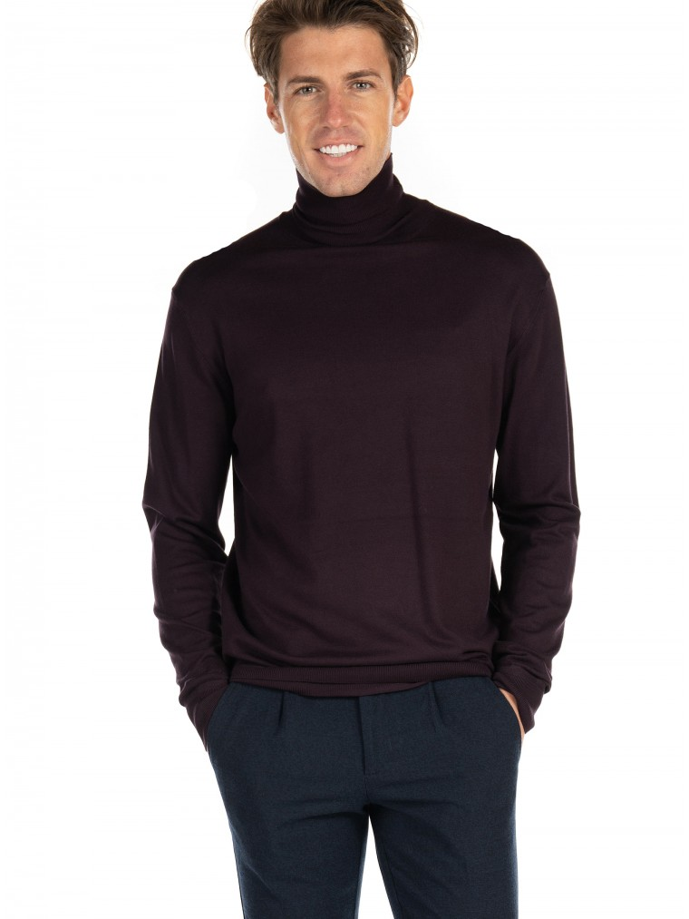 Scotch & Soda Turtleneck Knit-Bordeaux