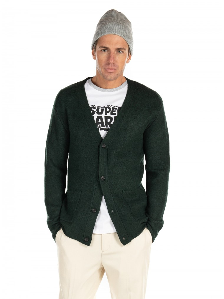 Scotch & Soda Relaxed Soft Knit Cardigan -Dark Green