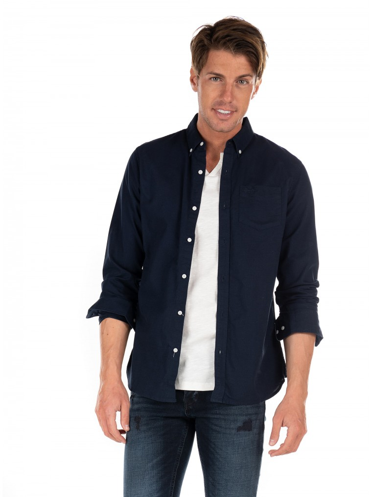 Superdry Classic University Oxford Shirt-Blue