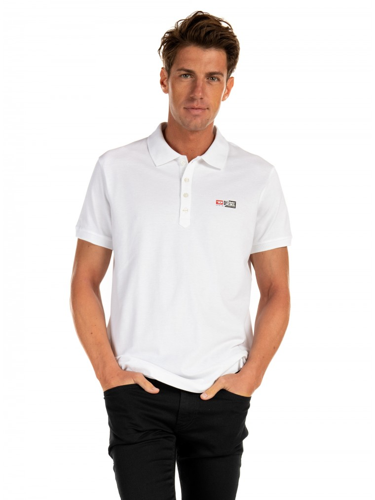 Diesel Pique Polo Shirt T-Weet-Split-White