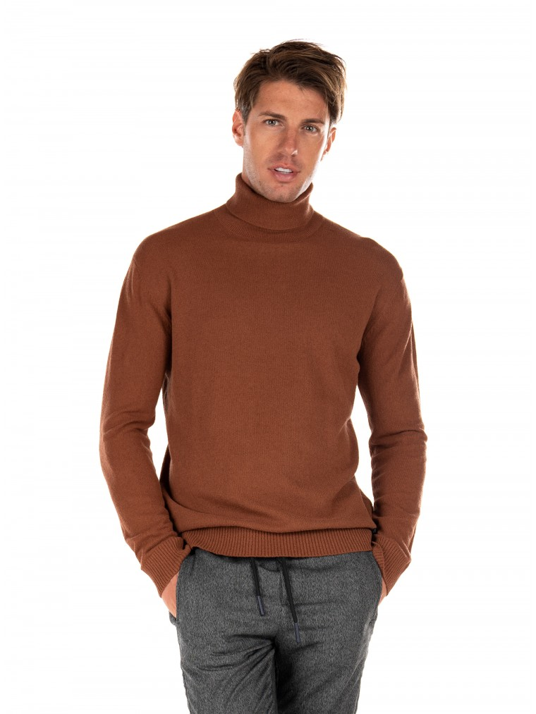 Gabba Rollneck Knit Gormely-Rust Brown