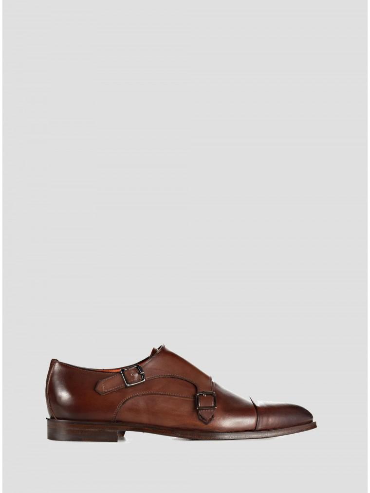 Per La Moda Shoes-Rust Brown