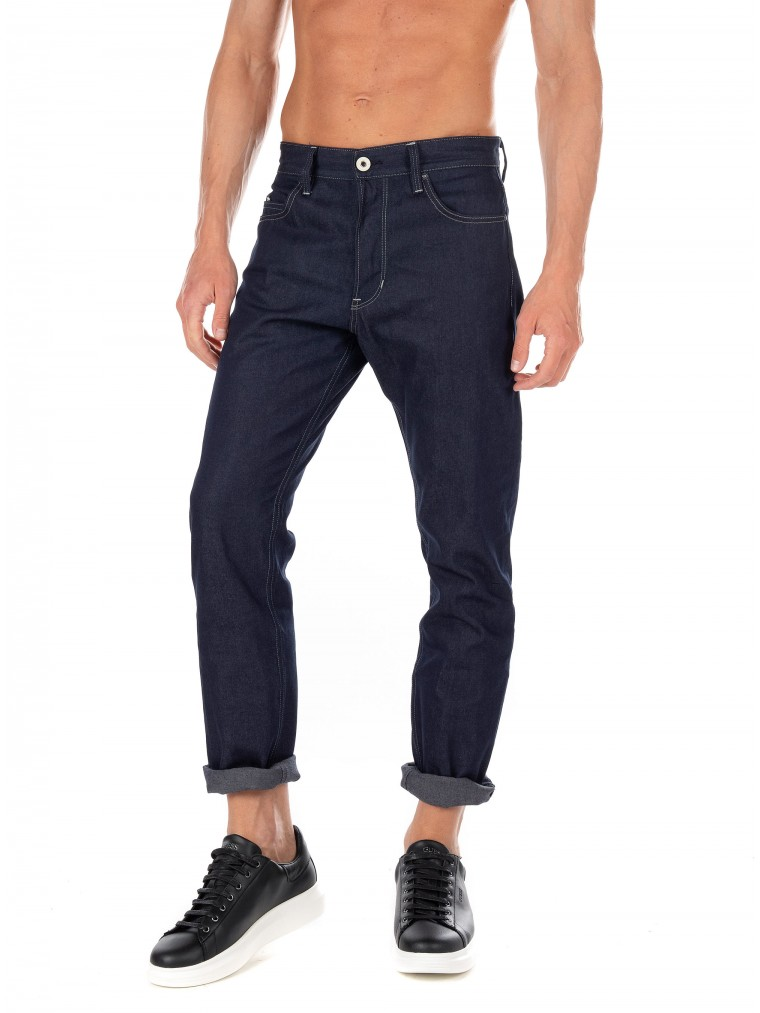 G-Star Trilpe A Staright Jeans-Unwashed Denim