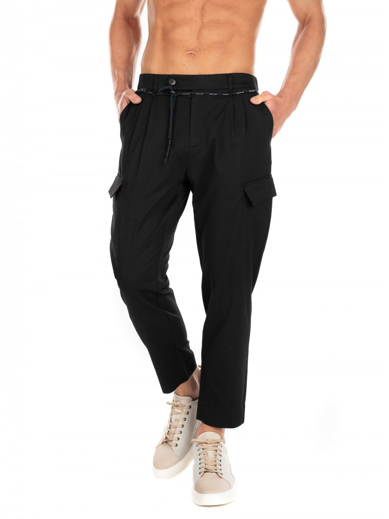 Scotch & Soda Loose Cargo Pants-Black
