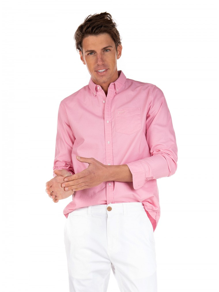 Superdry Classic University Oxford Shirt-Pink