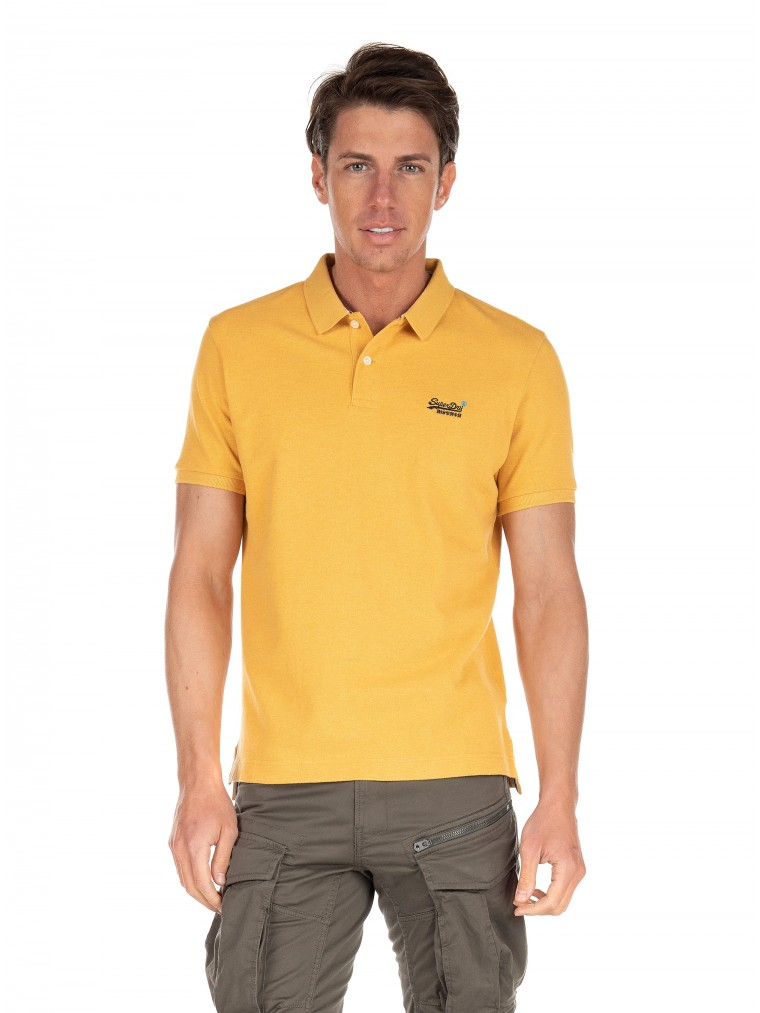 Classic Pique Short Sleeve Polo Shirt -Yellow