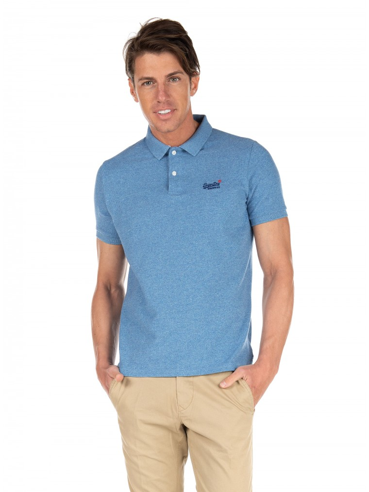 Classic Pique Short Sleeve Polo Shirt -Light Blue