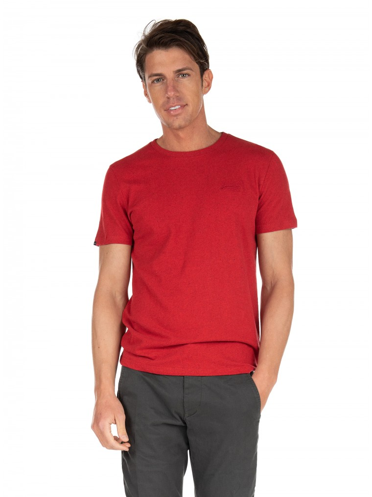 Superdry Organic Cotton Vintage Embroidery T-Shirt-Red