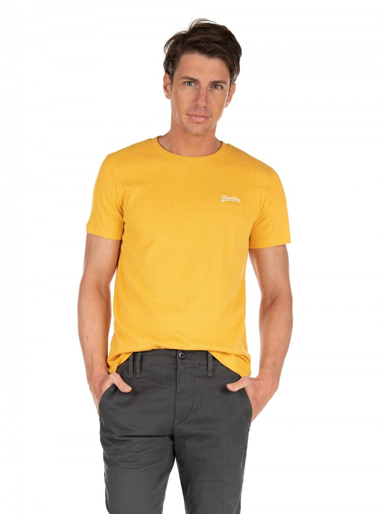 Superdry Organic Cotton Vintage Embroidery T-Shirt-Yellow