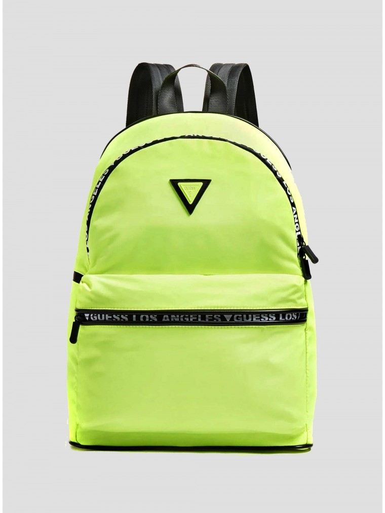 Guess 4 Logo Backpack-Yellow