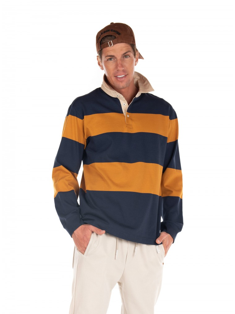Selected Rugby Polo Shirt Marcos-Blue