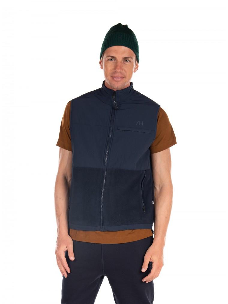Selected Fleece Vest Nohr-Blue