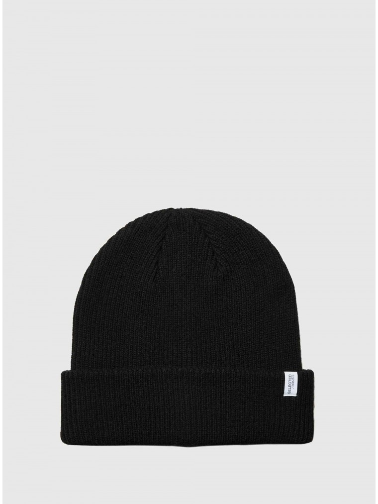 Selected Cashmere Blend Beanie Cray-Black
