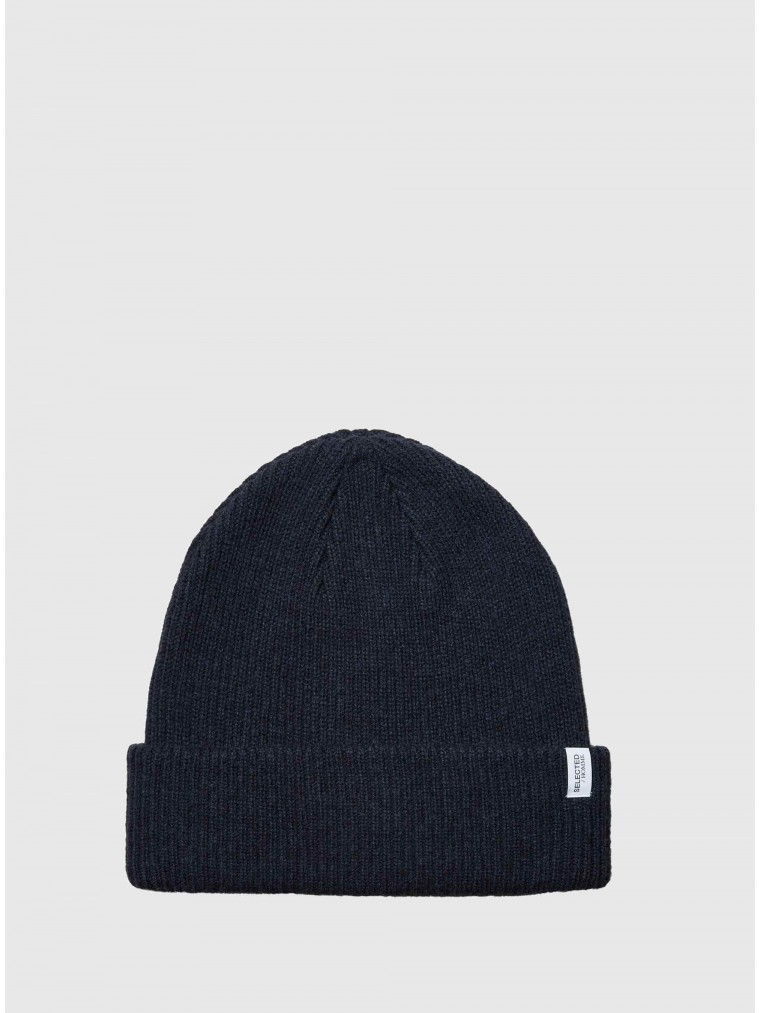 Selected Cashmere Blend Beanie Cray-Blue
