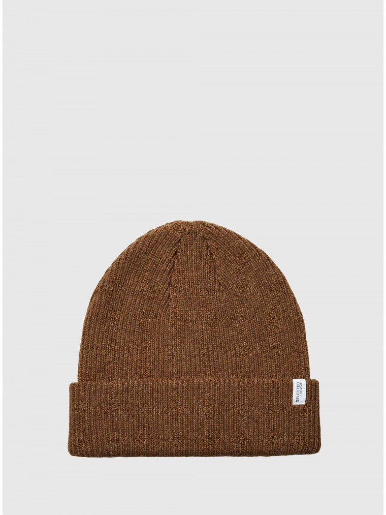 Selected Cashmere Blend Beanie Cray-Rust Brown