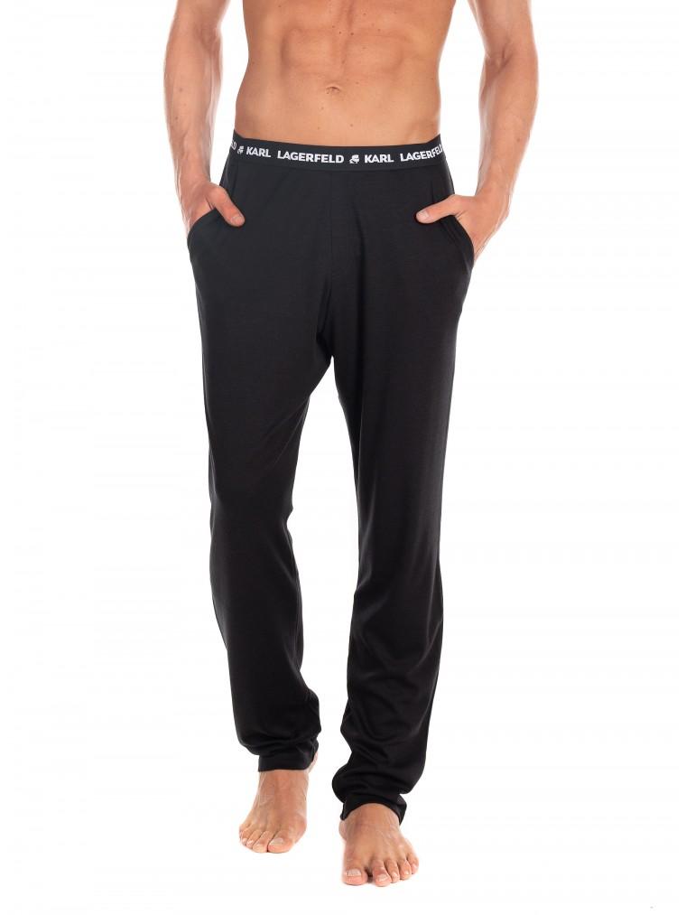 Karl Lagerfeld Pyjama Pants-Black