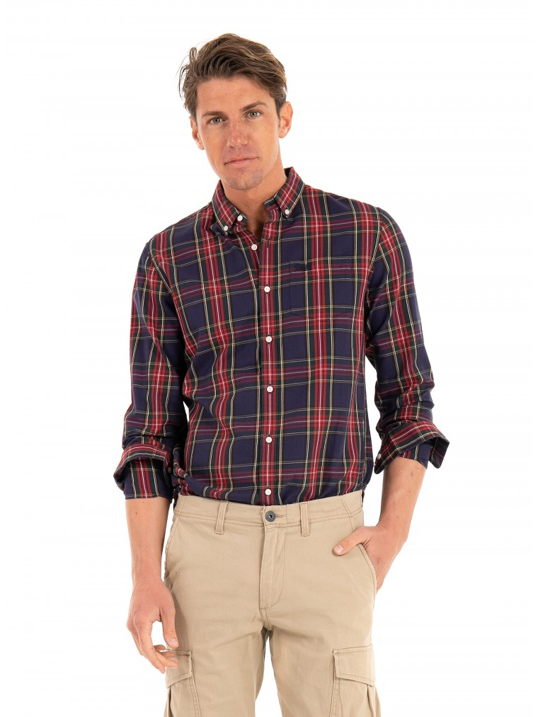 Superdry Classic London Button Down Shirt-Red