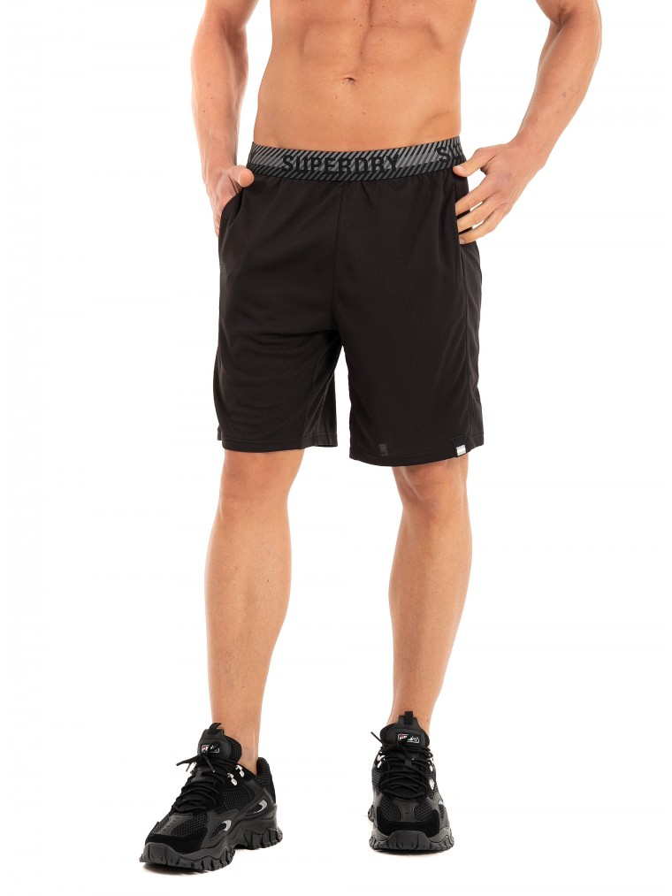 Superdry Training Relaxed Shorts-Black