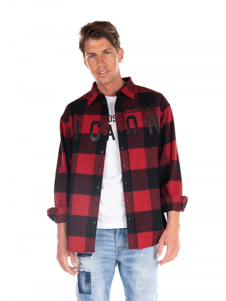 Dsquared Icon Check Shirt -Red
