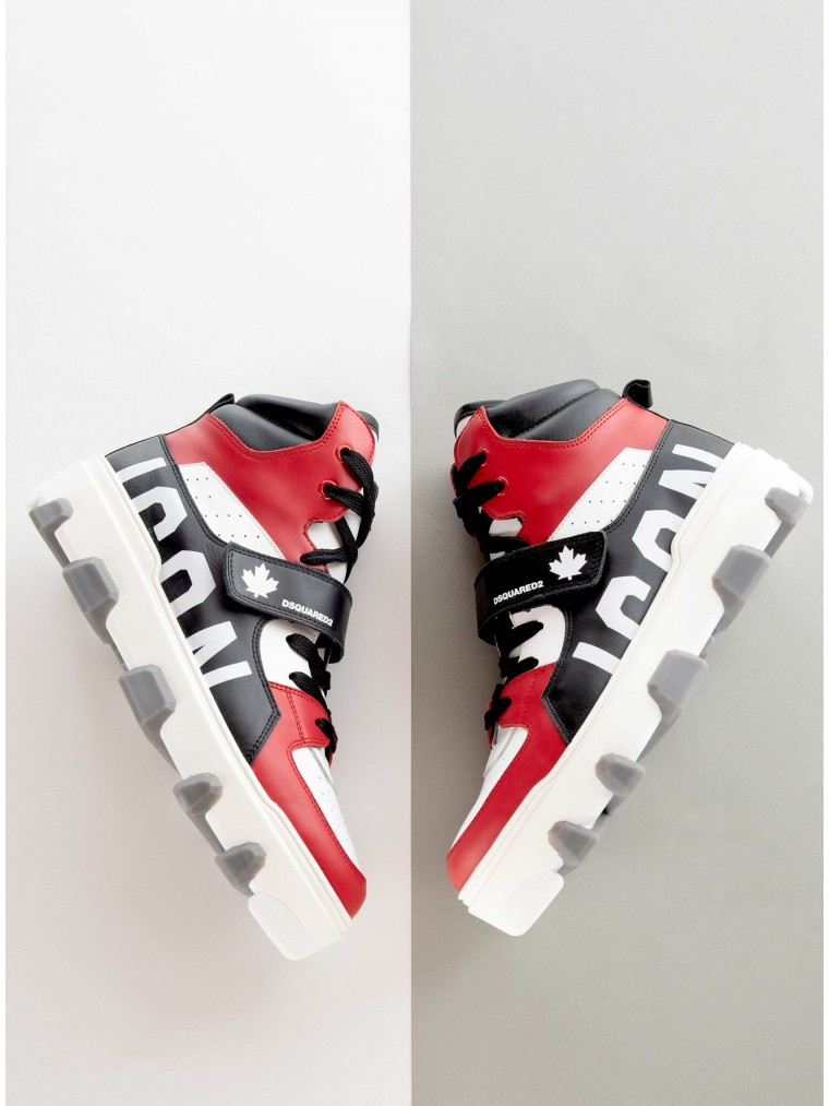 Dsquared Icon Basket Sneakers-Multi Colors