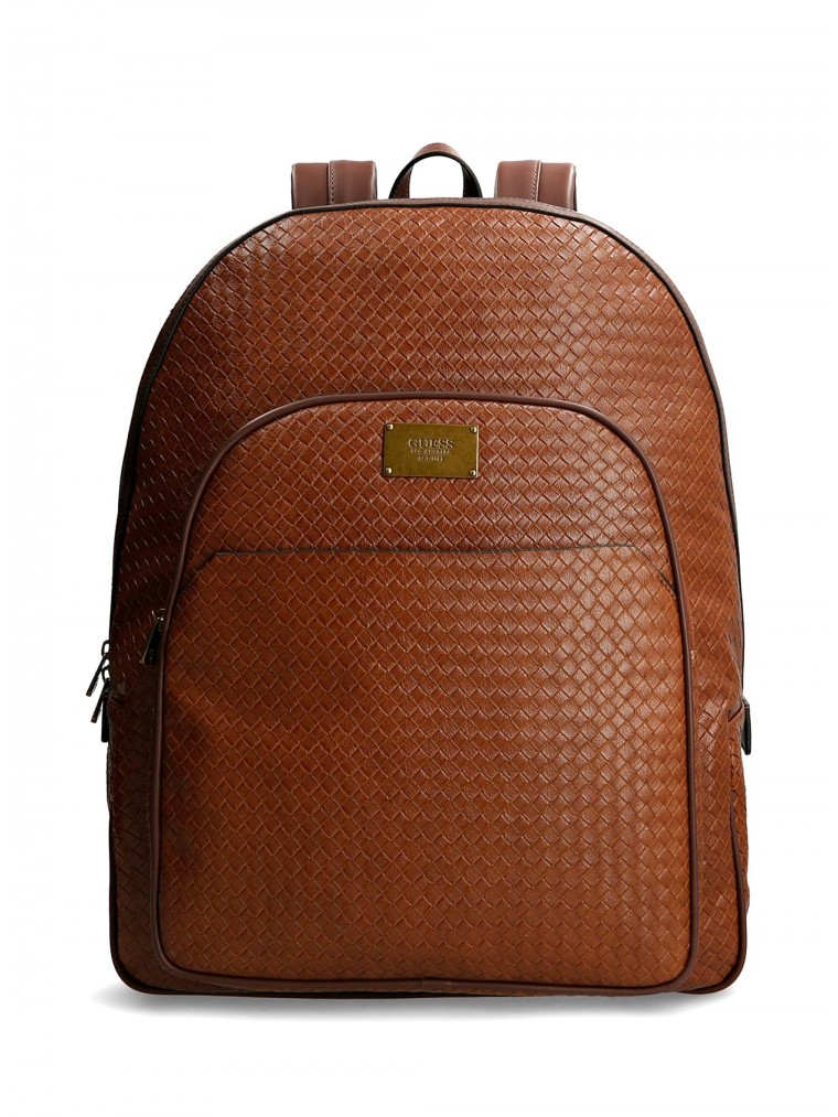 Guess Evening Braided Backpack -Rust Brown