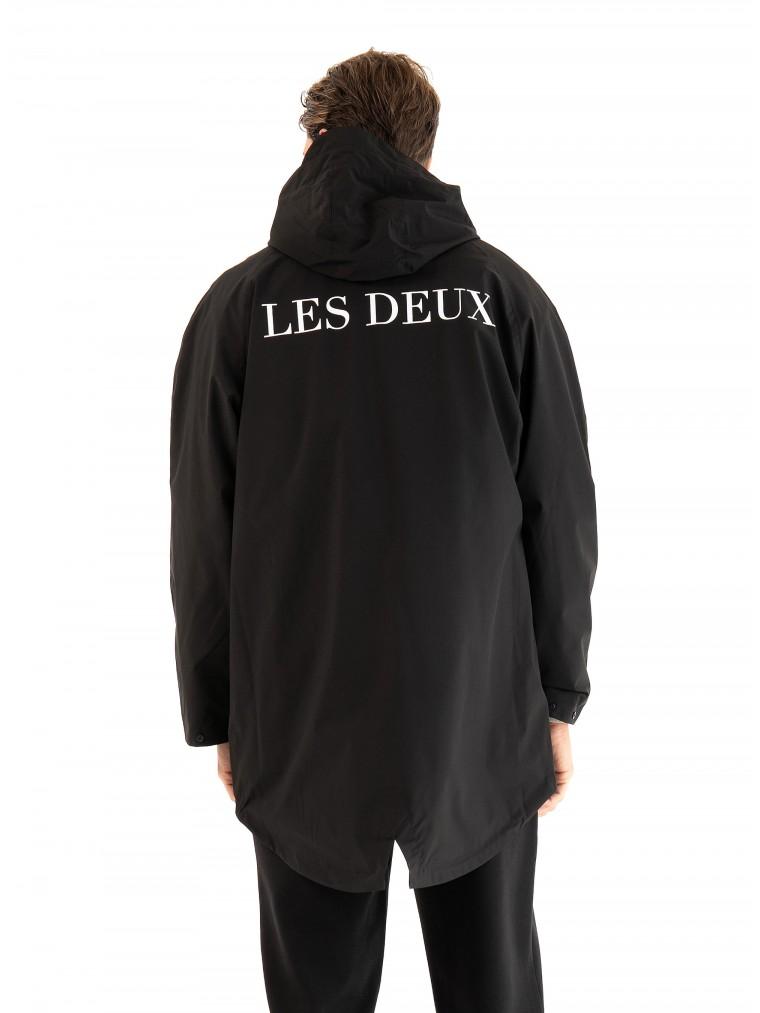 Les Deux Moraine Poncho Jacket-Black