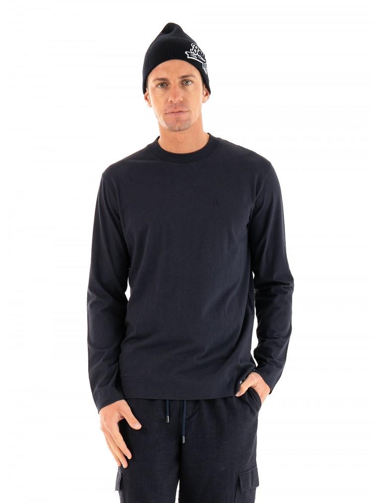 Les Deux Aron Wool LS T-Shirt-Blue