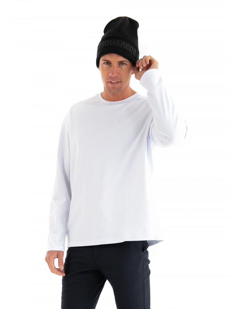 Les Deux Nordic Long Sleeve T-Shirt-White