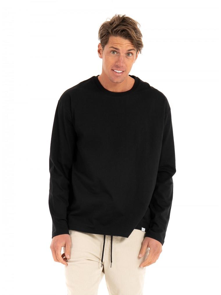 Les Deux Nordic Long Sleeve T-Shirt-Black