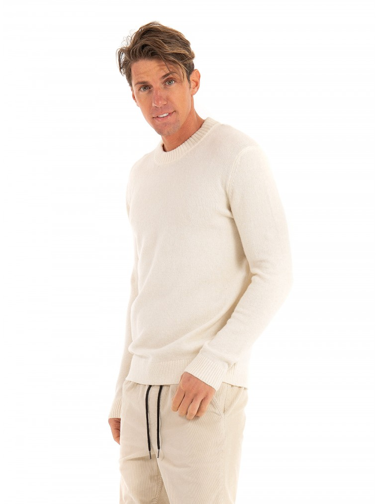 Les Deux Recycled Brushed Knit Francis -Off White