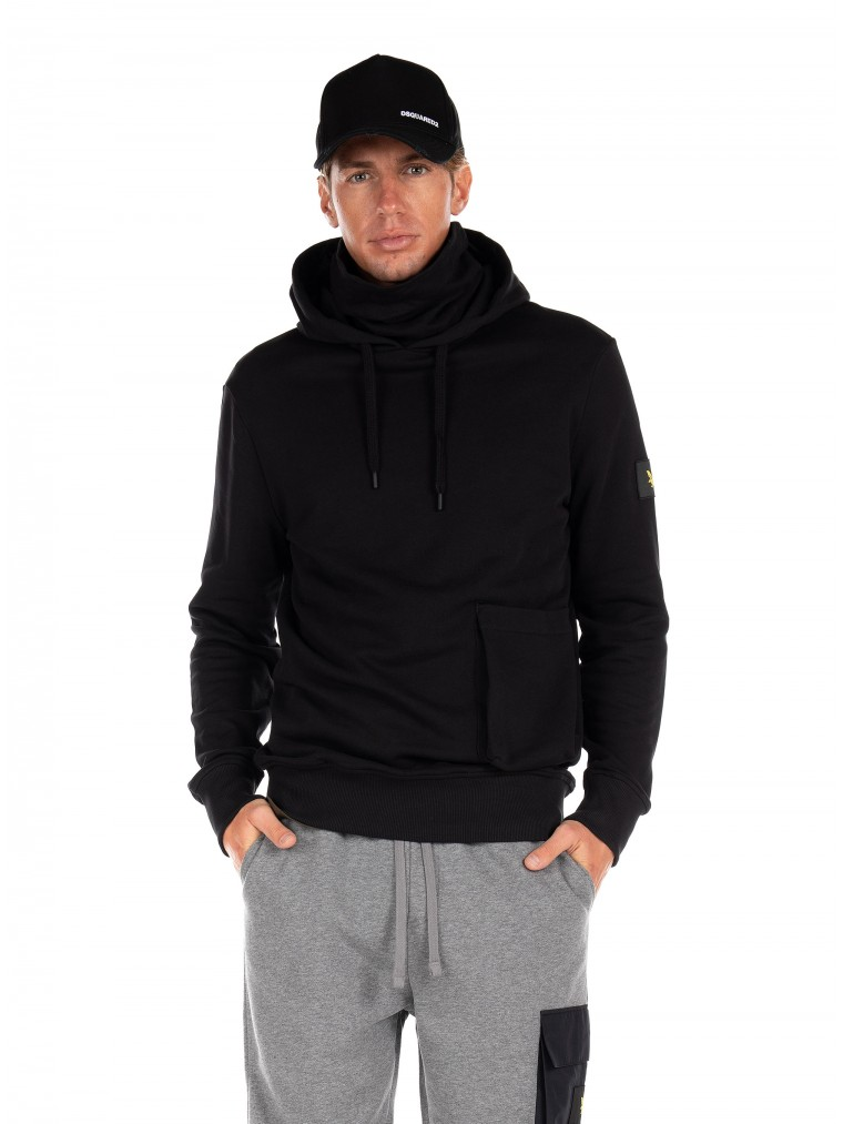 Lyle & Scott Face Covered Hoodie-Black