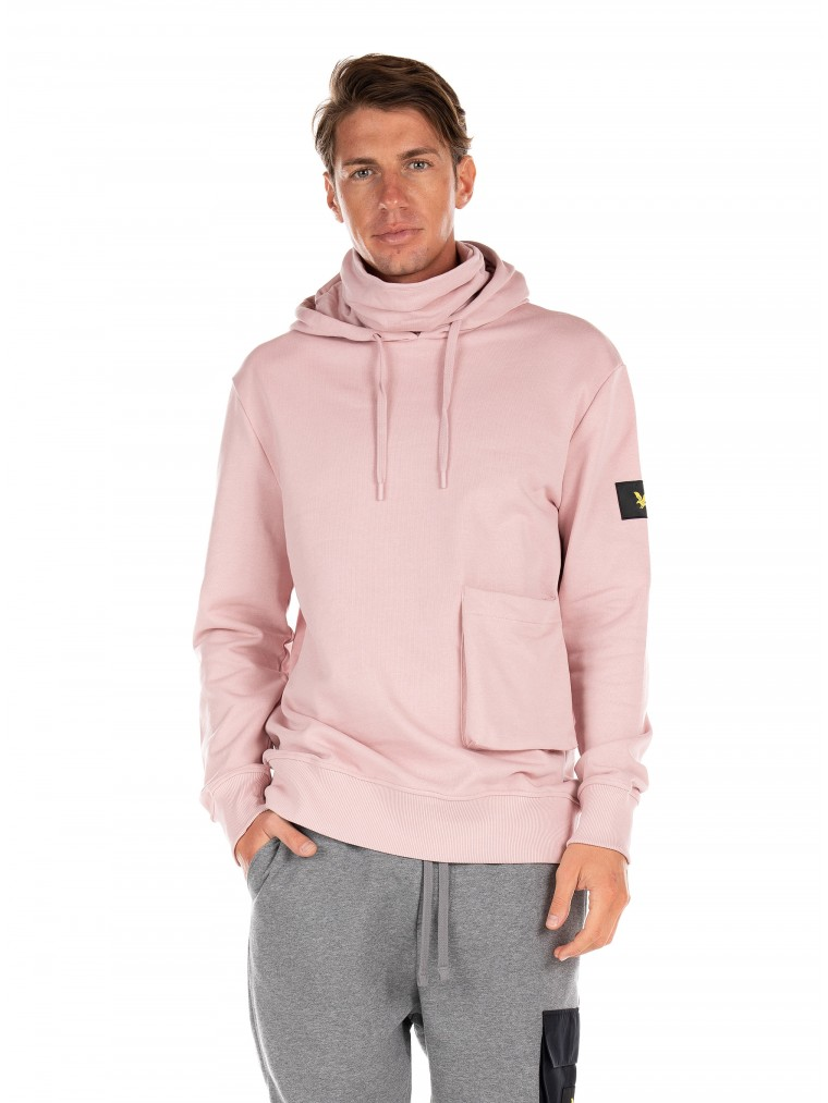 Lyle & Scott Face Covered Hoodie-Pink