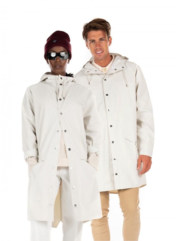 Rains UNISEX Long Jacket-Off White
