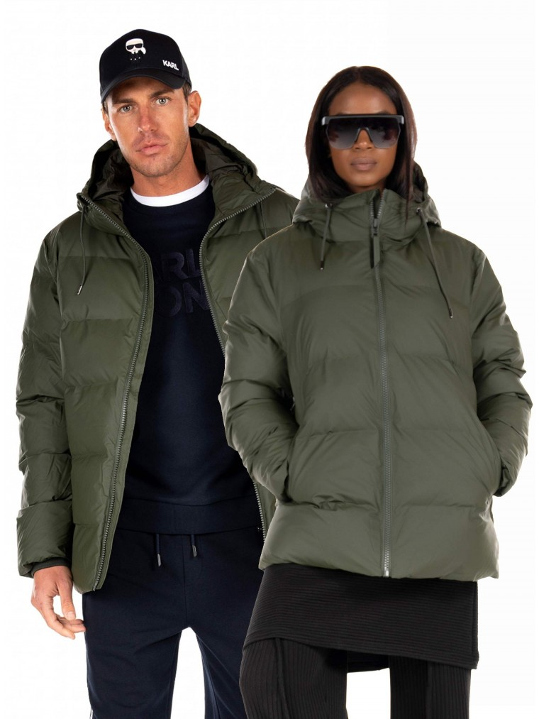 Rains Puffer Jacket-Khaki