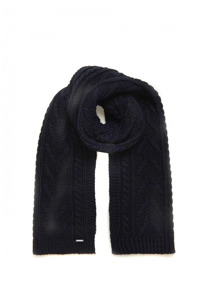 Superdry Scarf Lannah Cable-Blue
