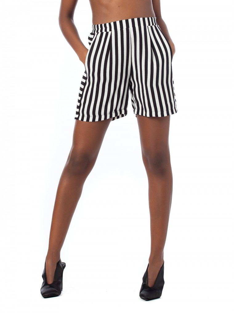 Ichi Shorts Blisa-Striped