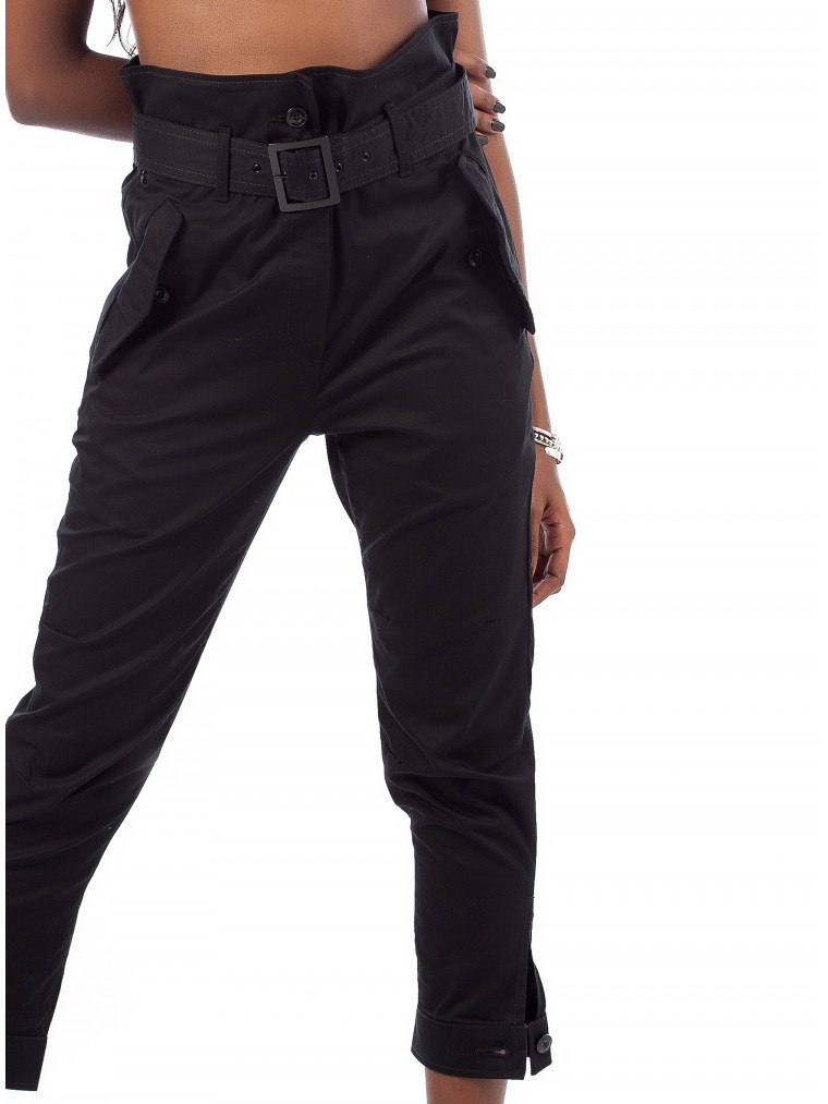 G-Star Rovic High waist Paperbag Pants-Black