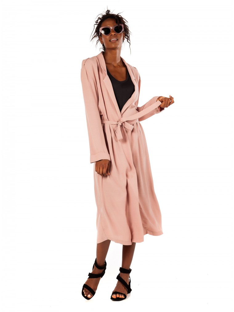 Black & Black Coat/Dress-Pink