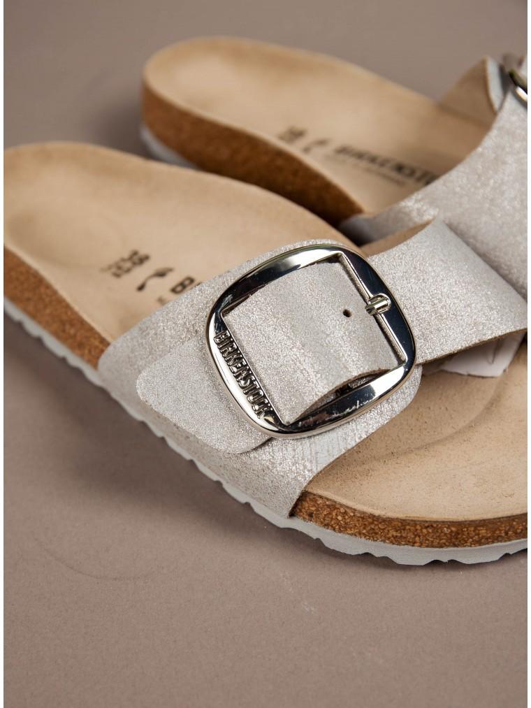 Birkenstock Sandals Madrid Big Buckle-Silver