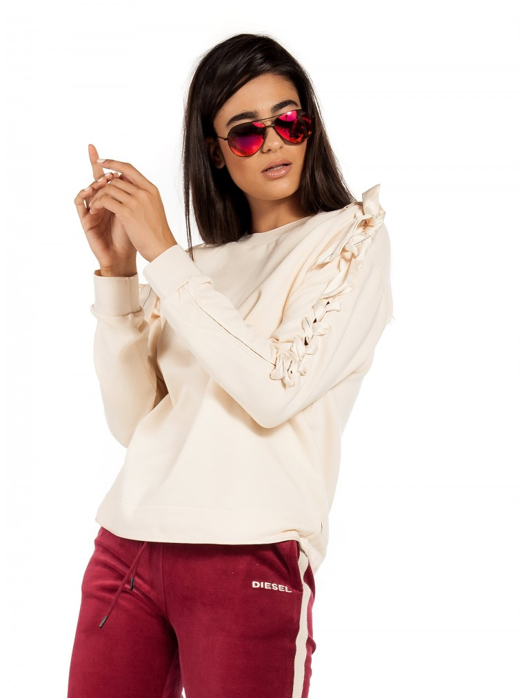 Maison Scotch Laced Sweater-Off White