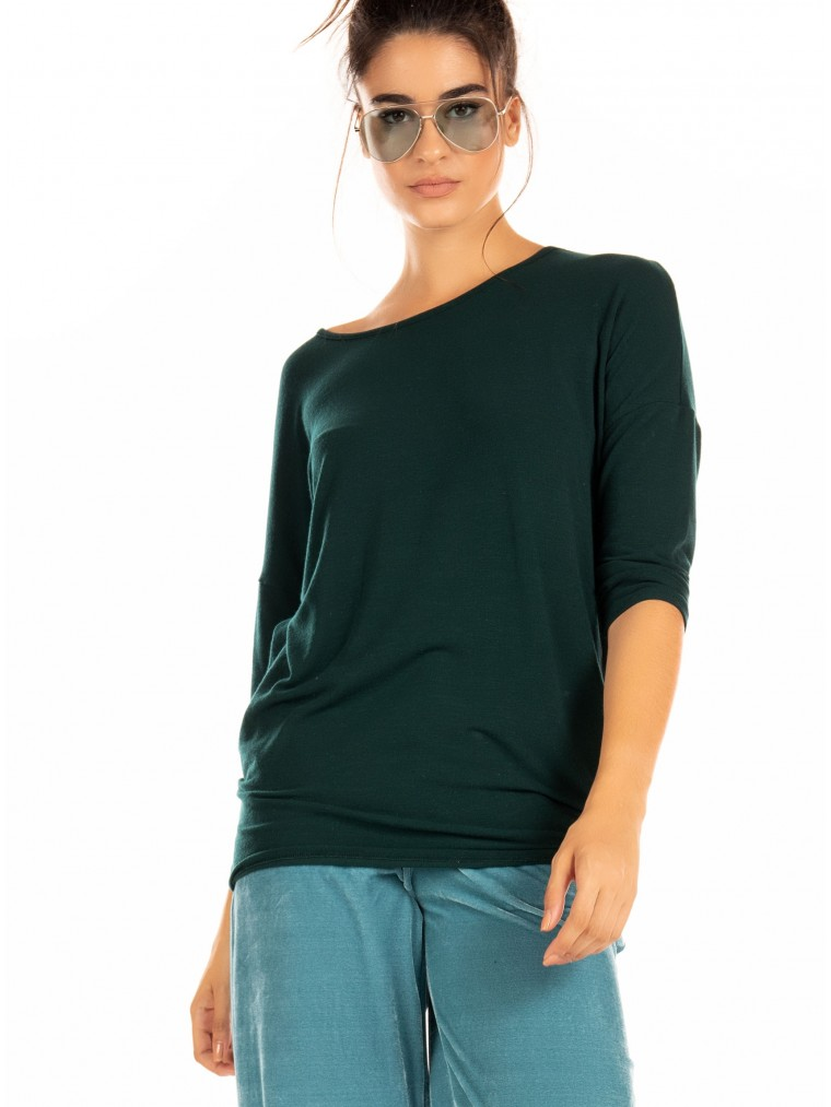 Only 3/4 Blouse Glamour-Dark Green