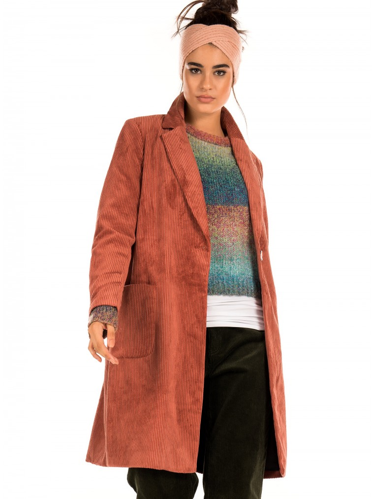 Only Corduroy Coat Astrid-Rosybrown