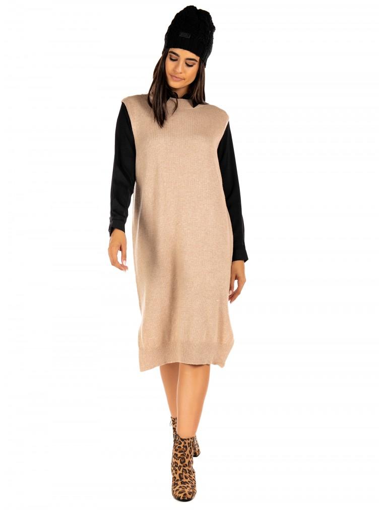The Korner Dress -Beige
