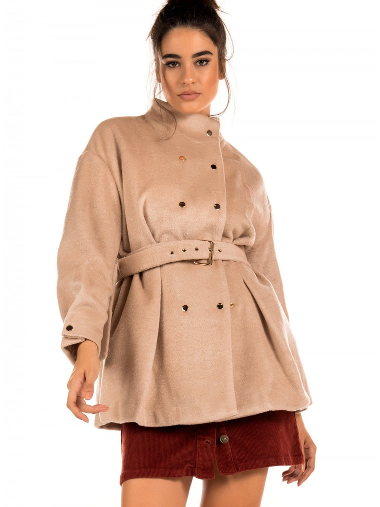 The Korner Coat-Beige