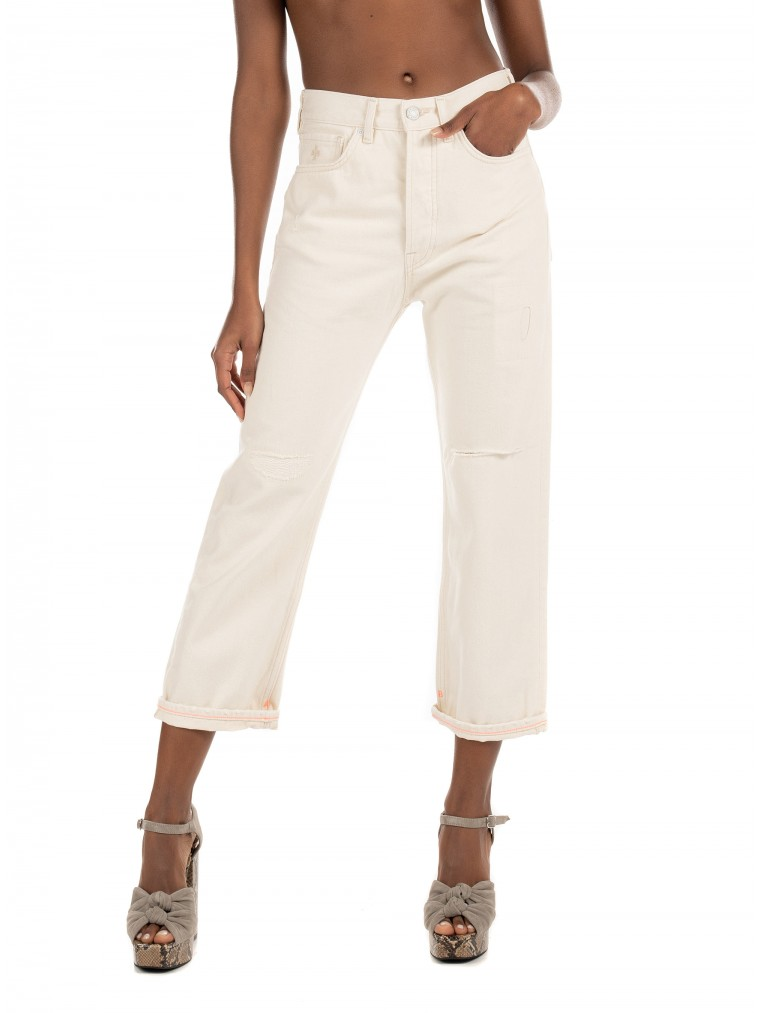 Maison Scotch Extra Boyfriend Fit Jeans-Off White