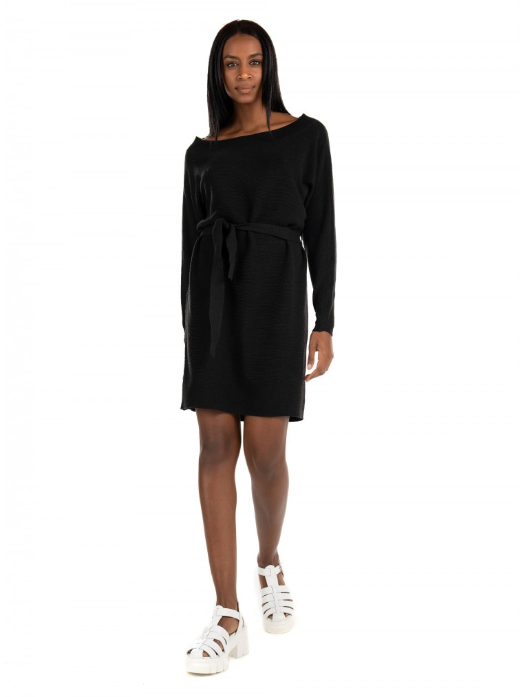 Only Knit Dress Hero Life-Black