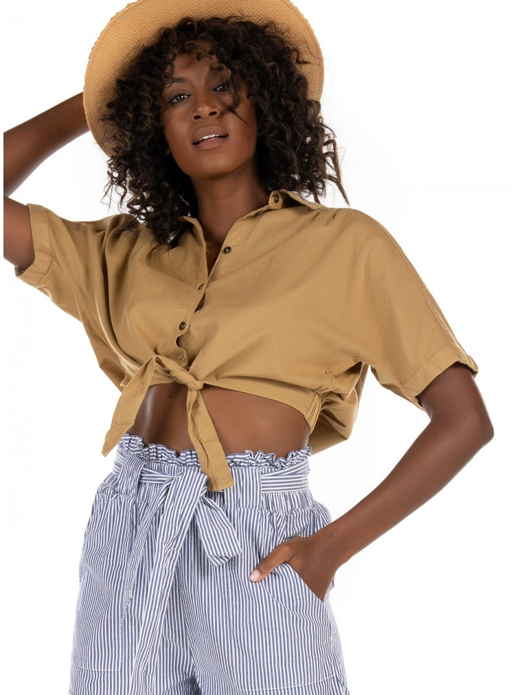 Only Cropped Shirt Lotus-Neola-Olive