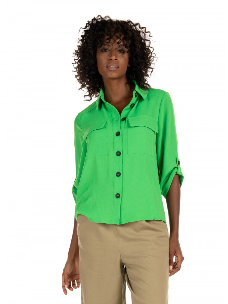 Only Shirt Isla-Lime