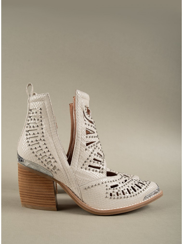 Jeffrey Campbell Ankle Boots Maceo-Off White