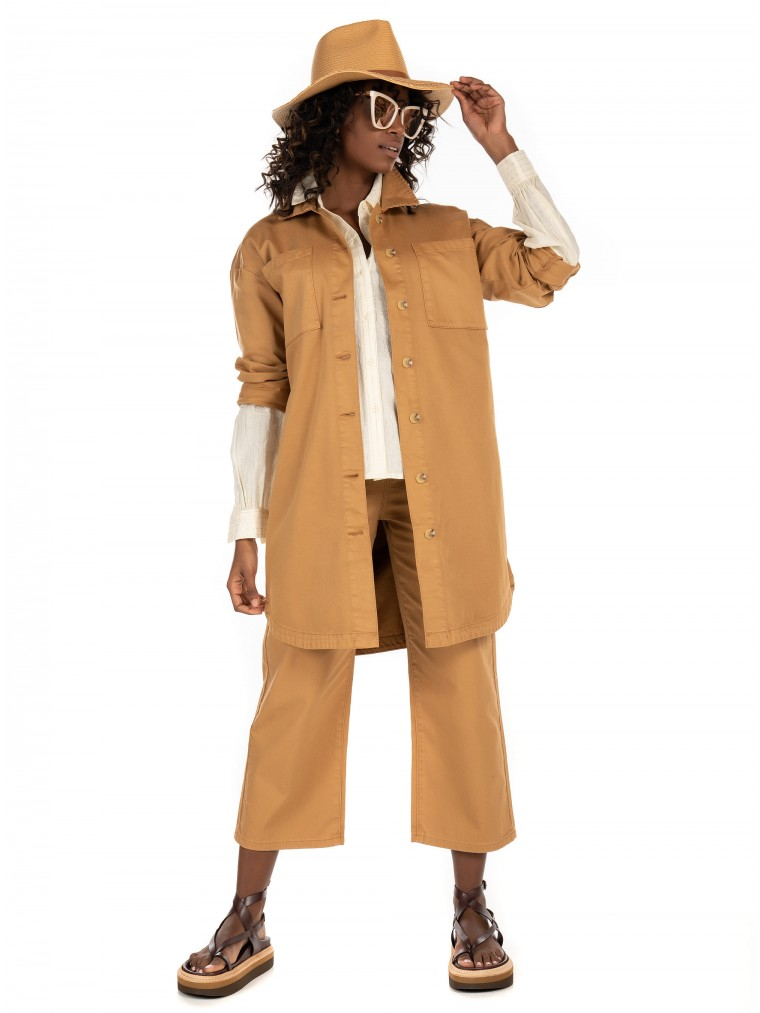 Vero Moda Oversized Shirt-Rust